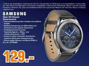 Samsung Gear S3 classic Smartwatch silber mit Lederarmband für 129,-€ (Versand für 15€ Aufpreis möglich) [Saturn München/Freising]
