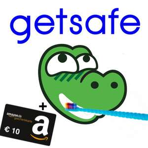 getsafe Zahnzusatzversicherung mit 35,40€ Guthaben + 10€ Amazon Gutschein: z.B. Professionelle Zahnreinigung ab eff. 25,40€  (Zahnpflege; 6 Monate kostenlos & 1 Jahr MVLZ ab Leistung)