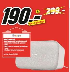 [Regional Mediamarkt Meerane] Google Home Max - Hands-free Smart Speaker - Grau für 190,-€