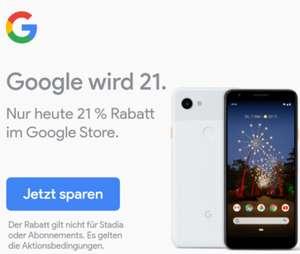 [GoogleStore] Pixel 3a (und alles andere!) um 21% reduziert