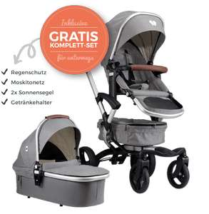 bonavi 2.0 Kinderwagen + Wickeltasche + Fußsack kostenlos