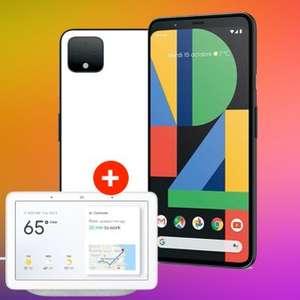 Google Pixel 4 für 1€ ZZ + Google Nest Hub im md green LTE Vodafone (10GB LTE) od. Telekom (8GB LTE) für mtl. 41,99€