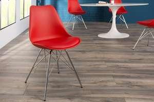 2x Esszimmerstuhl Retro SCANDINAVIA MEISTERSTÜCK in rot, blau und türkis je 24,95€ bei Riess Ambiente