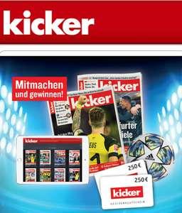 8 Ausgaben des Kickers Sportmagazin kostenlos und unverbindlich