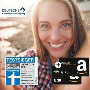 120€ Amazon Gutschein für Zahnzusatzversicherung der DFV (bis zu 60€ Gewinn pro Kind + eff. kostenlose Zahnreinigung)