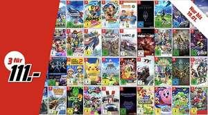 [MM & Amazon] 3x Nintendo Switch Spiele für 111€ (> 50 Spiele zur Auswahl) - z.B. Pokémon Schwert + Luigi's Mansion 3 + Breath of the wild