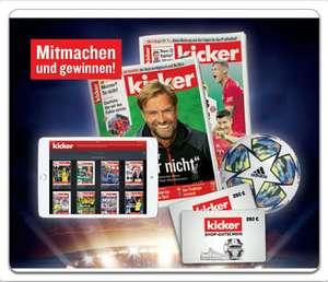 8 Ausgaben des Kicker Sportmagazins kostenlos und unverbindlich