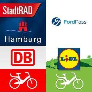 1 Jahr lang DB Bikes 30 Minuten pro Fahrt kostenlos nutzen (LIDL Bike, FordPass, DB Call a Bike, etc.)