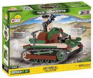 Cobi 2383 - Small Army - WWII TKS Tankette Panzer Bausatz, 250 Teile + 1 Figur für 13,74€ (Amazon Prime & Thalia Club)