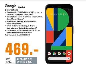 [Mediamarkt/Saturn] Google Pixel 4 64GB Just Black Smartphone 64 GB 14,47 cm 16 MP für 469,-€