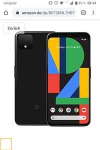 Google Pixel 4 schwarz bei amazon