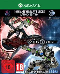 Bayonetta & Vanquish: 10th Anniversary Bundle - Launch Edition inkl.Steelbook (Xbox One & PS4) für je 24,99€ (Media Markt Abholung)