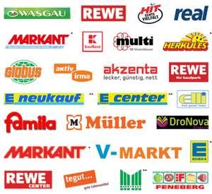 Coupon-Sammlung der im Handel befindlichen Rabatt-Coupons