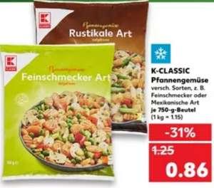 [Kaufland] 750g Beutel K-Classic Pfannengemüse verschiedene Sorten für 0,86€