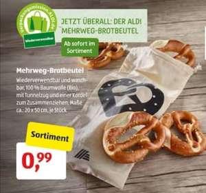 [Aldi Süd] Mehrweg Brotbeutel aus Bio-Baumwolle für 0,99€