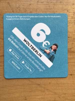 [Berlin] 6 € Rabatt auf die erste Bestellung bei Wolt (Lieferservice)