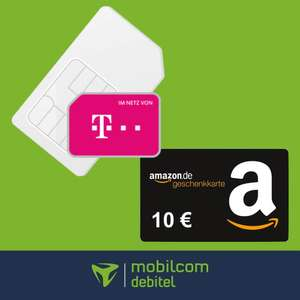 mobilcom-debitel Telekom green Data XL Datentarif (15GB LTE) mtl. 9,99€ + 10€ Amazon Gutschein