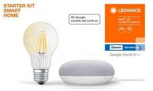 LEDVANCE Smartes Licht-Set »SMART+« mit Google Home mini + LED-Birne