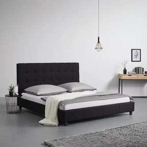"""Polsterbett """"Frederico"""" (In den neuen Farben schwarz und beige, 180 x 200 cm, Mit Lattenrost) [Mömax Abholung]"""