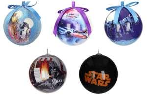 5 Star Wars Weihnachts- /Christbaumkugeln für 23,49€