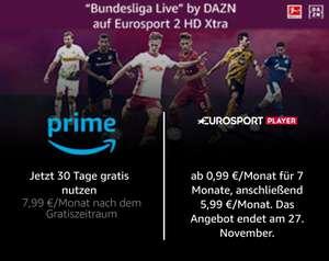 [Prime] *Wieder da* Eurosportplayer für 0,99 EUR / 7 Monate im Amazon Channel