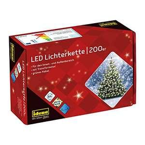 (Prime) LED Lichterkette mit 200 LED in warmweiß, mit 8 Stunden Timer, Idena 8325066