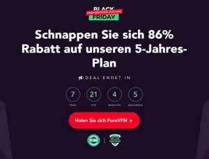 PureVPN Blackfriday Deal - 5-Jahres-Abo für 81 €