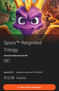 Spyro Reignited Trilogy für PS4 mit neuem Bestpreis im Store