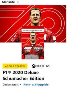 [Xbox] F1® 2020 Deluxe Schumacher Edition (Download, Microsoft Store)
