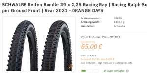SCHWALBE Reifen Bundle 29 x 2,25 Racing Ray | Racing Ralph Super Ground Front | Rear 2021 - ORANGE DAYS