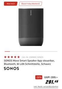 Sonos Move bei Media Markt für 291,46 € inkl. Versand