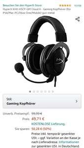 HyperX Cloud II - Gaming headset bei Amazon & kostenloser Versand