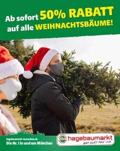 [Lokal München] Ab sofort: 50% Rabatt auf alle Weihnachtsbäume! - Hagebaumärkte