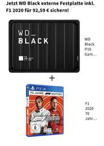 WD Black externe Festplatte 2TB inkl. F1 2020