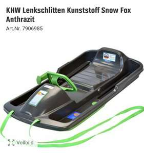 KHW Lenkschlitten Kunststoff Snow Fox Anthrazit