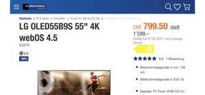 "LG OLED55B9S 55"" 4K webOS 4.5 , lokal Schweiz"