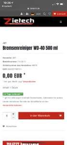 Bremsenreiniger WD-40 Preisfehler. 0€ bitte Info lesen. 4,90€ Versand