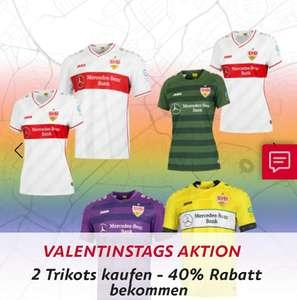 40% Rabatt beim Kauf von 2 VfB Stuttgart Trikots der aktuellen Saison