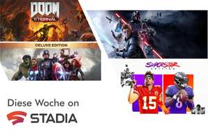 Stadia Angebote KW 7/8 Sammeldeal: u.a. Madden NFL 21 Superstar Edition, STAR WARS Jedi: Fallen Order™, Marvel's Avengers