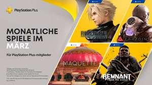 Playstation Plus März: Final Fantasy VII Remake, Maquette (PS5), Remnant, Farpoint