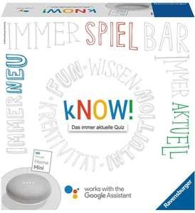 "Google Home Mini (Farbe Kreide [Weiß] ) + Ravensburger Spiel ""Know"" [Hugendubel]"