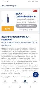(Lokal) Flächendesinfektion in der dm App Gratis (personalisiert)