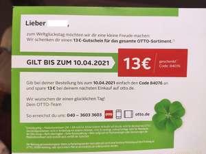 13€-Gutschein für das gesamte Otto-Sortiment (MBW 29€, personalisiert)