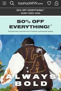 BoohooMAN 50% Sale - Herrenbekleidung