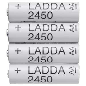 [IKEA Würzburg] 4x AA LADDA Akkus - wiederaufladbar