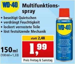 WD-40 Multifunktionsspray 150ml für 1,99 Euro / Metallregal für 10 Euro [Thomas Philipps]