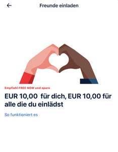 7€ für beide jeweils bei FREE NOW für KwK