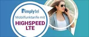 simplytel (O2) & Shoop 6 GB LTE+Allnet Flat+ SMS Flat für nur 6,99€ + 10€ Cashback