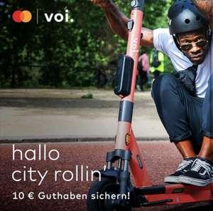 VOI Neukunden- 10 Euro Guthaben mit Mastercard
