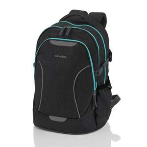 Travelite Basics Schulrucksack in Anthrazit-Neongrün oder Anthrazit-Neontürkis bei Southbag (B-Ware)